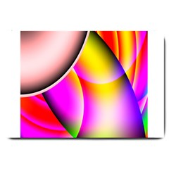 Colorful 1 Large Doormat  by timelessartoncanvas
