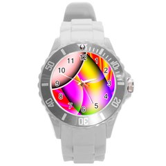 Colorful 1 Round Plastic Sport Watch (l) by timelessartoncanvas