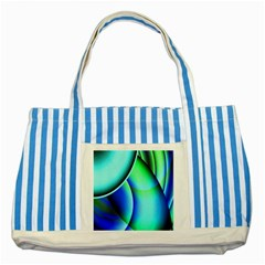 New 2 Striped Blue Tote Bag by timelessartoncanvas