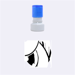New 2 Rubber Round Stamps (small) by timelessartoncanvas