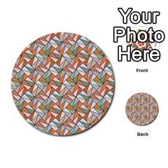 Allover Graphic Brown Multi Purpose Cards (round)