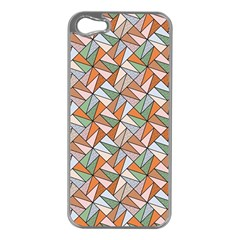 Allover Graphic Brown Apple Iphone 5 Case (silver) by MoreColorsinLife