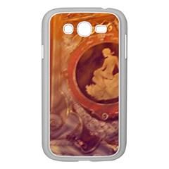 Vintage Ladies Artwork Orange Samsung Galaxy Grand Duos I9082 Case (white) by BrightVibesDesign