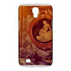 Vintage Ladies Artwork Orange Samsung Galaxy Mega 6 3  I9200 Hardshell Case by BrightVibesDesign
