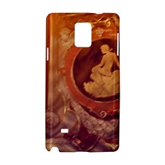 Vintage Ladies Artwork Orange Samsung Galaxy Note 4 Hardshell Case by BrightVibesDesign