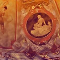 Vintage Ladies Artwork Orange Magic Photo Cubes by BrightVibesDesign