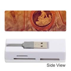 Vintage Ladies Artwork Orange Memory Card Reader (stick)  by BrightVibesDesign