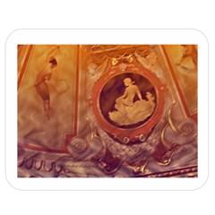 Vintage Ladies Artwork Orange Double Sided Flano Blanket (medium)  by BrightVibesDesign