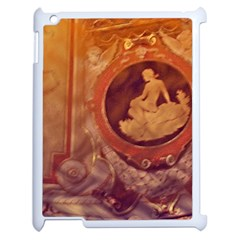 Vintage Ladies Artwork Orange Apple Ipad 2 Case (white) by BrightVibesDesign