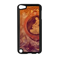 Vintage Ladies Artwork Orange Apple Ipod Touch 5 Case (black) by BrightVibesDesign