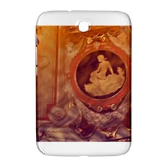 Vintage Ladies Artwork Orange Samsung Galaxy Note 8 0 N5100 Hardshell Case  by BrightVibesDesign