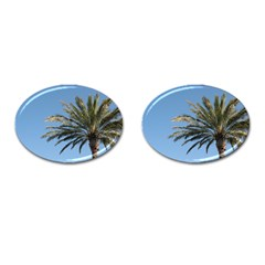 Tropical Palm Tree  Cufflinks (oval) by BrightVibesDesign