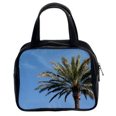 Tropical Palm Tree  Classic Handbags (2 Sides) by BrightVibesDesign