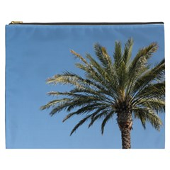 Tropical Palm Tree  Cosmetic Bag (xxxl)  by BrightVibesDesign