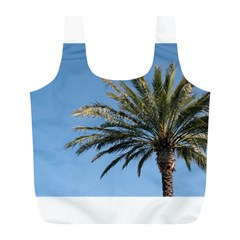 Tropical Palm Tree  Full Print Recycle Bags (l)  by BrightVibesDesign