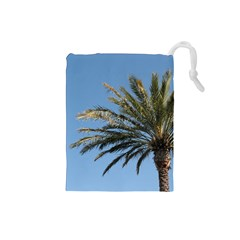 Tropical Palm Tree  Drawstring Pouches (small)  by BrightVibesDesign