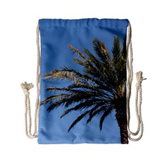 Tropical Palm Tree  Drawstring Bag (small) by BrightVibesDesign