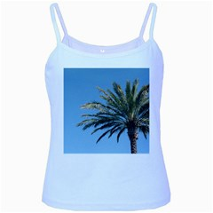 Tropical Palm Tree  Baby Blue Spaghetti Tank by BrightVibesDesign