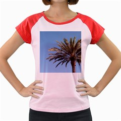 Tropical Palm Tree  Women s Cap Sleeve T Shirt by BrightVibesDesign