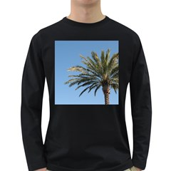 Tropical Palm Tree  Long Sleeve Dark T-Shirts by BrightVibesDesign