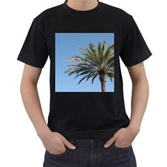 Tropical Palm Tree  Men s T-Shirt (Black) by BrightVibesDesign