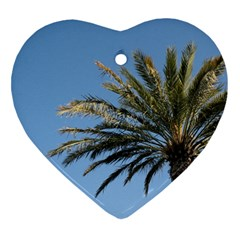 Tropical Palm Tree  Ornament (heart)  by BrightVibesDesign