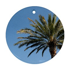 Tropical Palm Tree  Round Ornament (two Sides)  by BrightVibesDesign