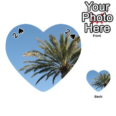 Tropical Palm Tree  Playing Cards 54 (heart)  by BrightVibesDesign