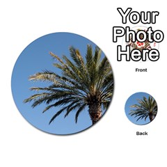 Tropical Palm Tree  Multi Purpose Cards (round)