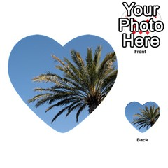 Tropical Palm Tree  Multi Purpose Cards (heart)  by BrightVibesDesign