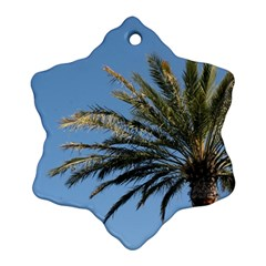 Tropical Palm Tree  Ornament (snowflake)  by BrightVibesDesign