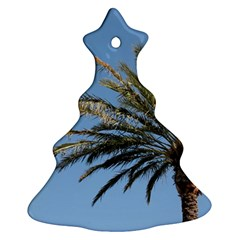 Tropical Palm Tree  Christmas Tree Ornament (2 Sides) by BrightVibesDesign