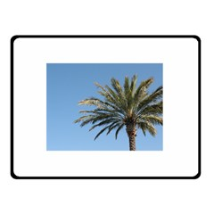 Tropical Palm Tree  Double Sided Fleece Blanket (small)  by BrightVibesDesign