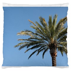Tropical Palm Tree  Large Flano Cushion Case (two Sides) by BrightVibesDesign