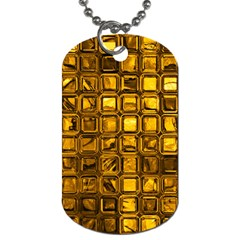 Glossy Tiles, Golden Dog Tag (two Sides) by MoreColorsinLife