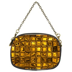 Glossy Tiles, Golden Chain Purses (two Sides)  by MoreColorsinLife