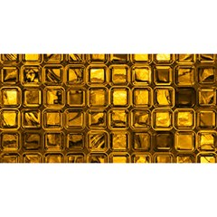 Glossy Tiles, Golden You Are Invited 3d Greeting Card (8x4)  by MoreColorsinLife