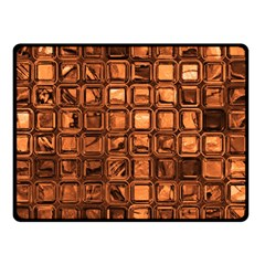 Glossy Tiles, Terra Double Sided Fleece Blanket (Small)  by MoreColorsinLife