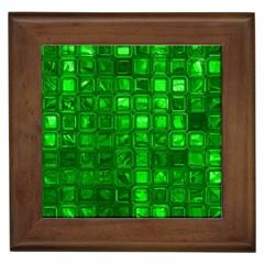 Glossy Tiles,green Framed Tiles by MoreColorsinLife