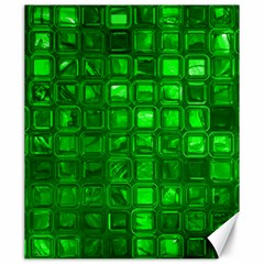 Glossy Tiles,green Canvas 20  X 24   by MoreColorsinLife