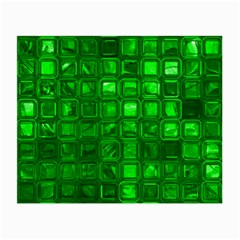 Glossy Tiles,green Small Glasses Cloth (2-Side) by MoreColorsinLife