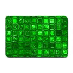 Glossy Tiles,green Small Doormat  by MoreColorsinLife