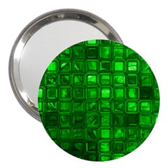 Glossy Tiles,green 3  Handbag Mirrors