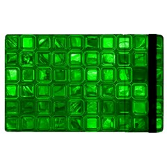 Glossy Tiles,green Apple Ipad 3/4 Flip Case by MoreColorsinLife