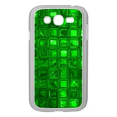 Glossy Tiles,green Samsung Galaxy Grand Duos I9082 Case (white) by MoreColorsinLife