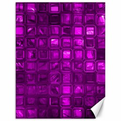 Glossy Tiles,purple Canvas 12  X 16   by MoreColorsinLife