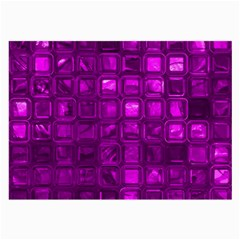 Glossy Tiles,purple Large Glasses Cloth by MoreColorsinLife
