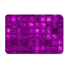 Glossy Tiles,purple Small Doormat  by MoreColorsinLife