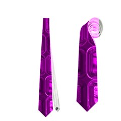 Glossy Tiles,purple Neckties (two Side)  by MoreColorsinLife