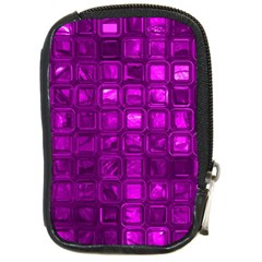 Glossy Tiles,purple Compact Camera Cases by MoreColorsinLife